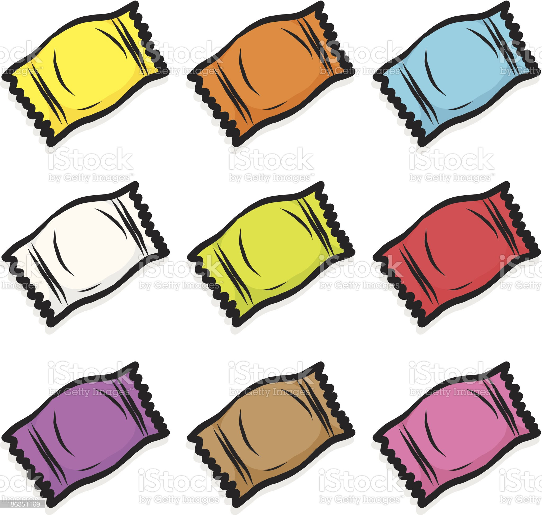 nine color candy royalty-free stock vector art