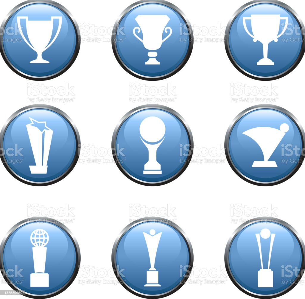Nine Trophy athletics royalty free vector arts stock photo