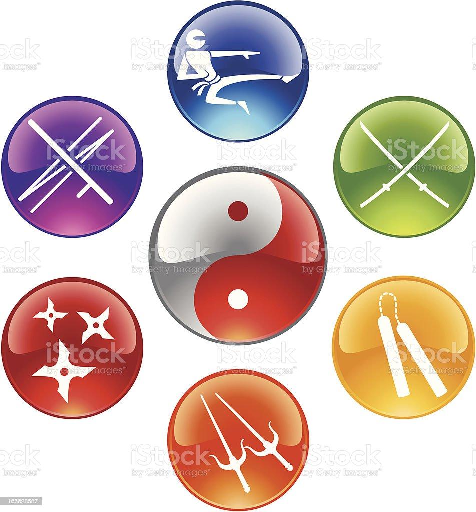 Ninja Buttons royalty-free stock vector art