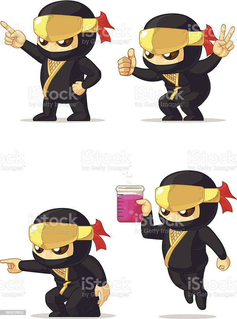 Ninja Customizable Mascot 5 royalty-free stock vector art