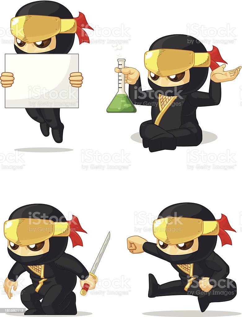 Ninja Customizable Mascot 7 royalty-free stock vector art