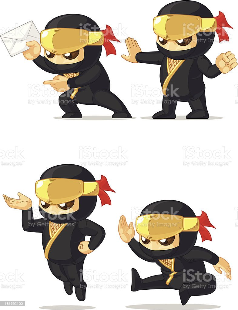 Ninja Customizable Mascot 8 royalty-free stock vector art