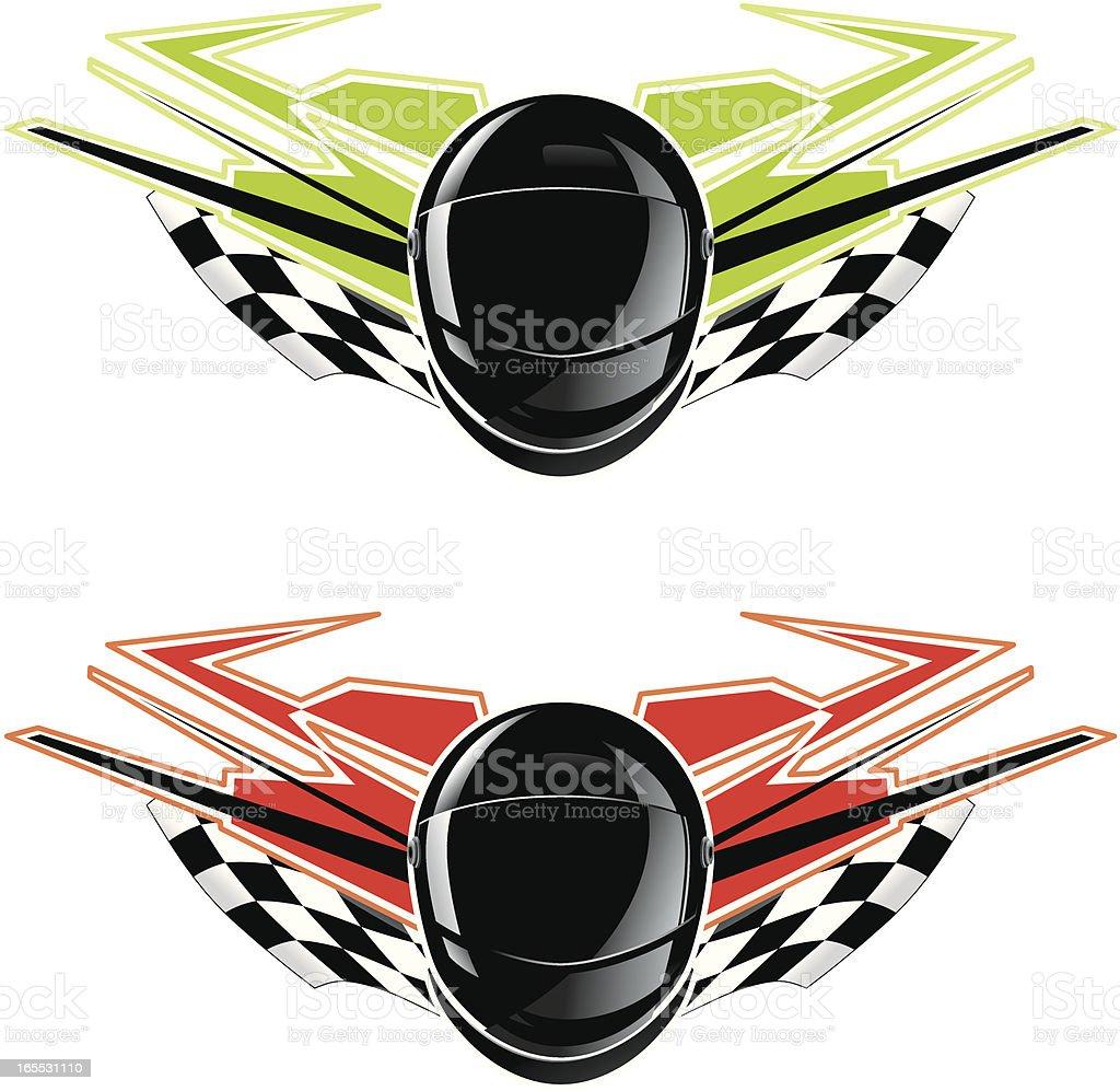 ninja racing emblem royalty-free stock vector art