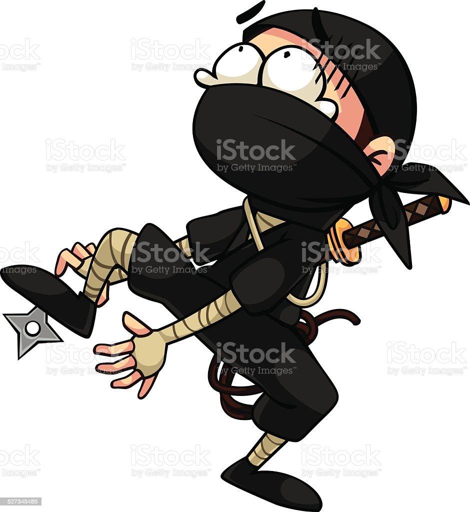Ninja royalty-free stock vector art