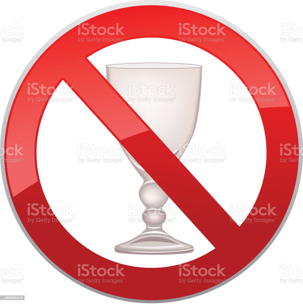 No Alcohol Sign. 'Don't drink' symbol - vector royalty-free stock vector art
