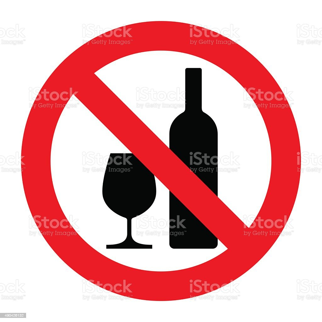 No alcohol sign vector art illustration