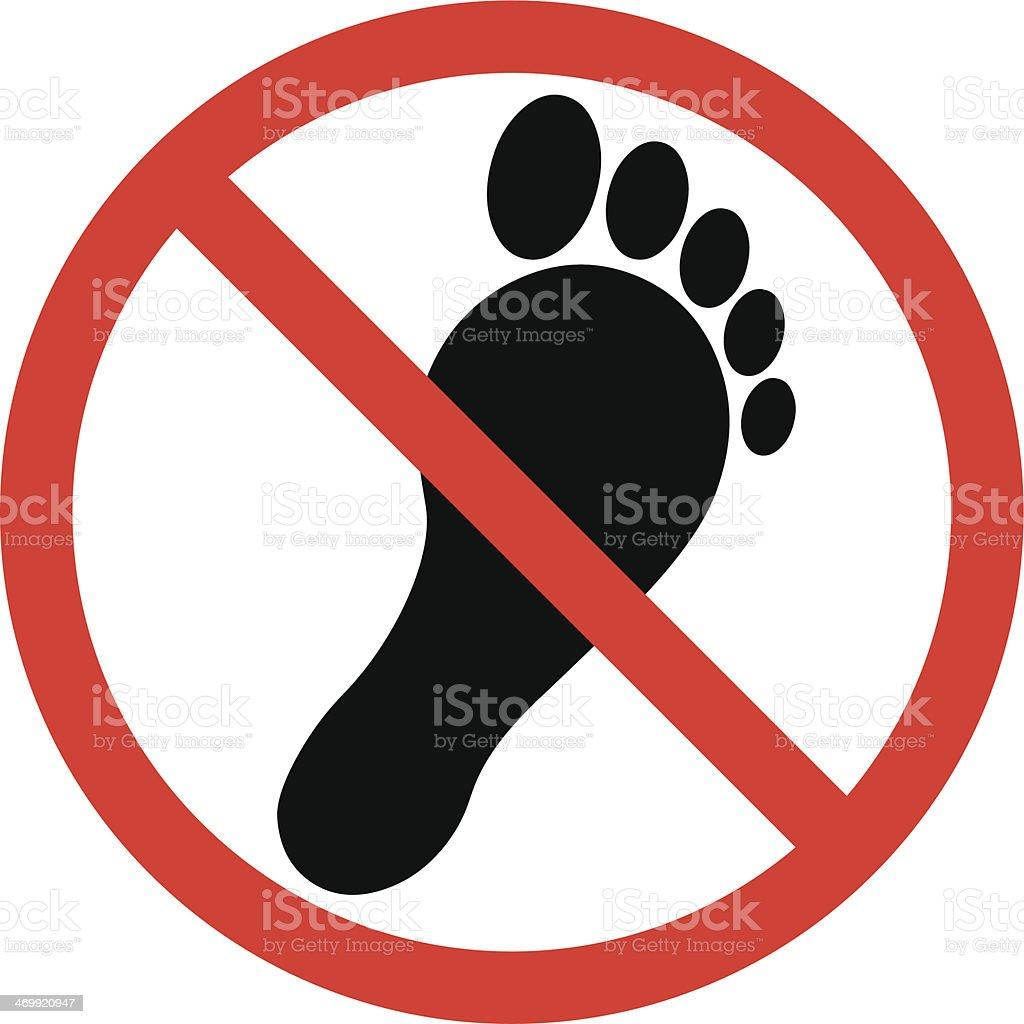 No Bare Foot royalty-free stock vector art