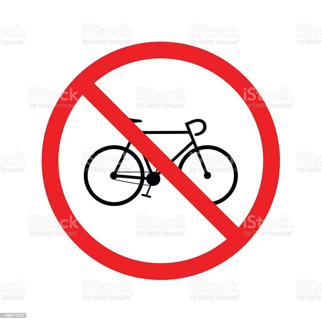 No bicycle sign vector art illustration