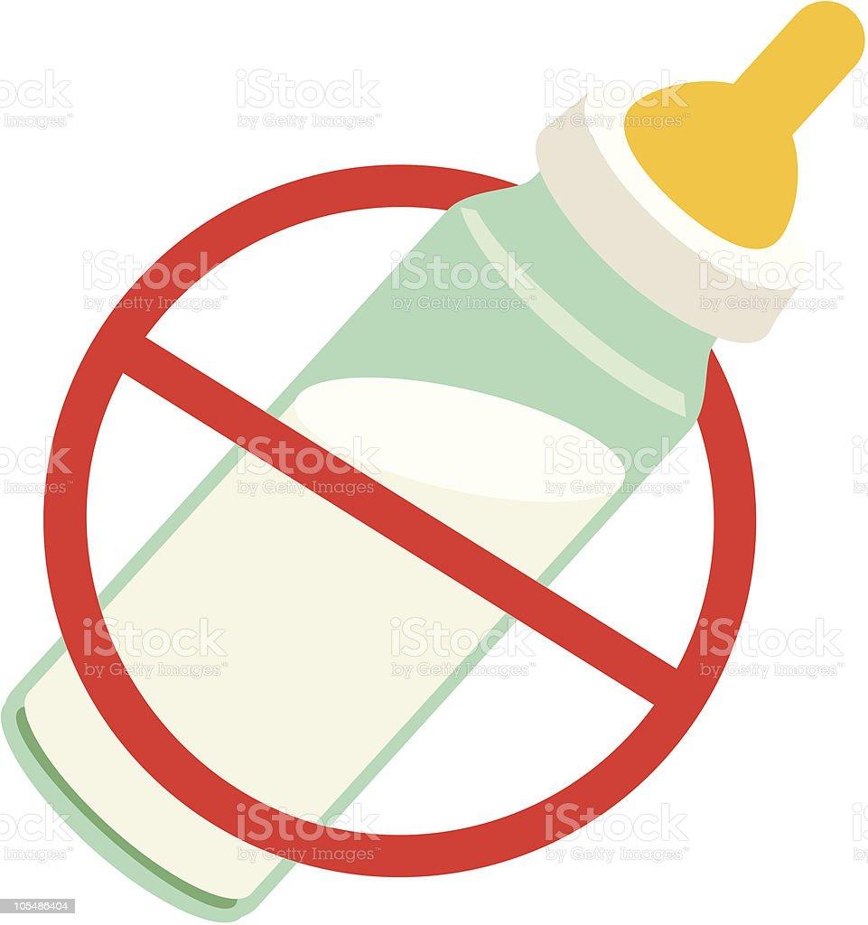 No Bottles Please (Breastfeed) royalty-free stock vector art