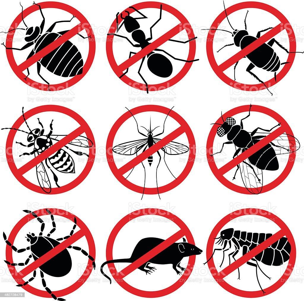 no bugs vector art illustration