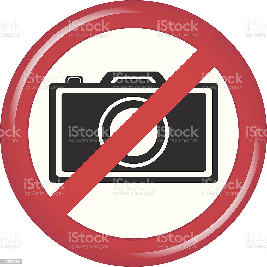 No Camera royalty-free stock vector art