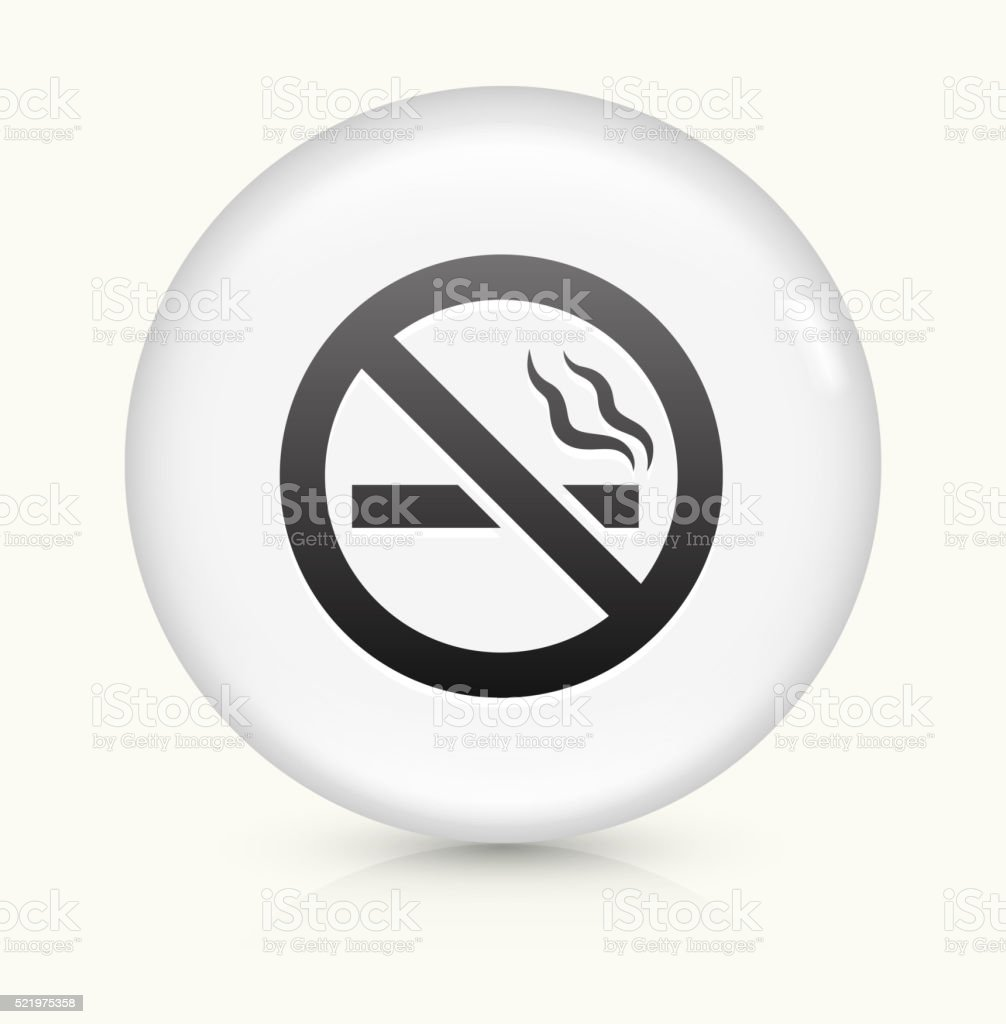 No Cigarette Smoking icon on white round vector button vector art illustration