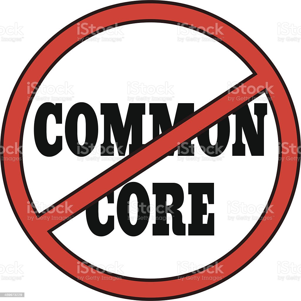 No Common Core royalty-free stock vector art