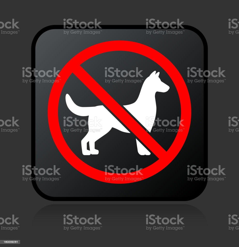 No Dogs Allowed Sign royalty free vector icon set stickers royalty-free stock vector art