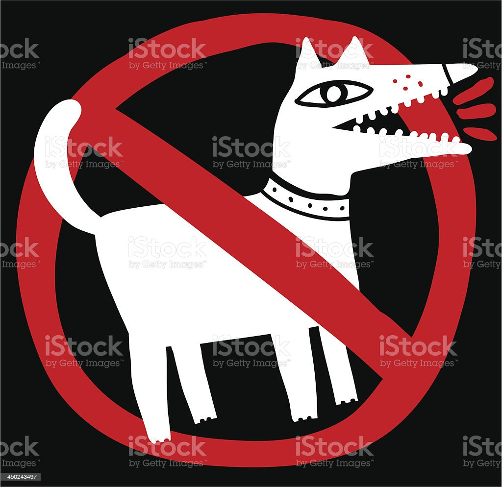 No dogs allowed royalty-free stock vector art