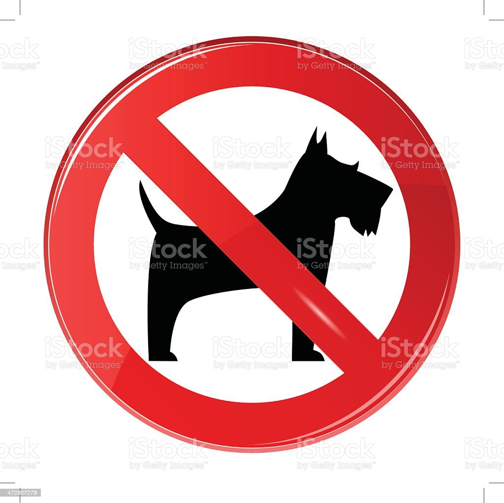 No dogs sign, vector royalty-free stock vector art