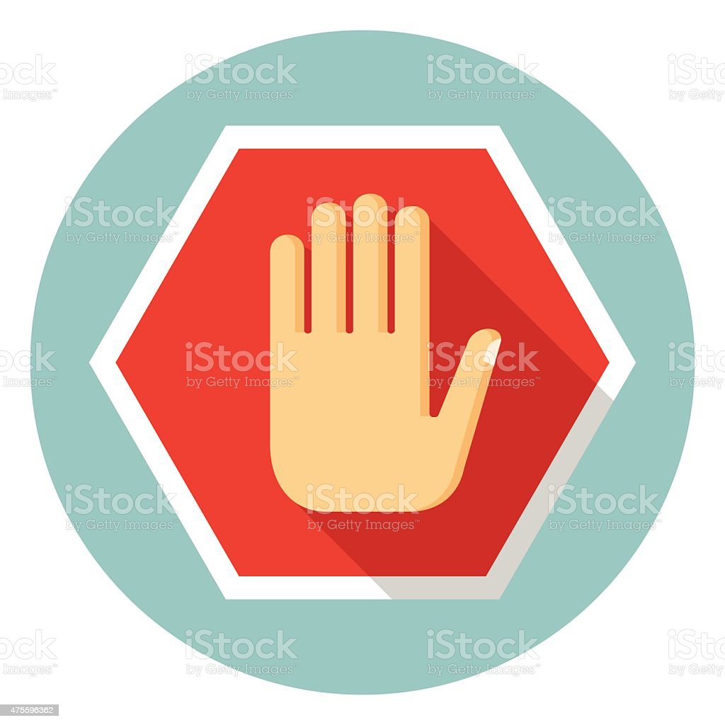 No entry hand icon vector art illustration