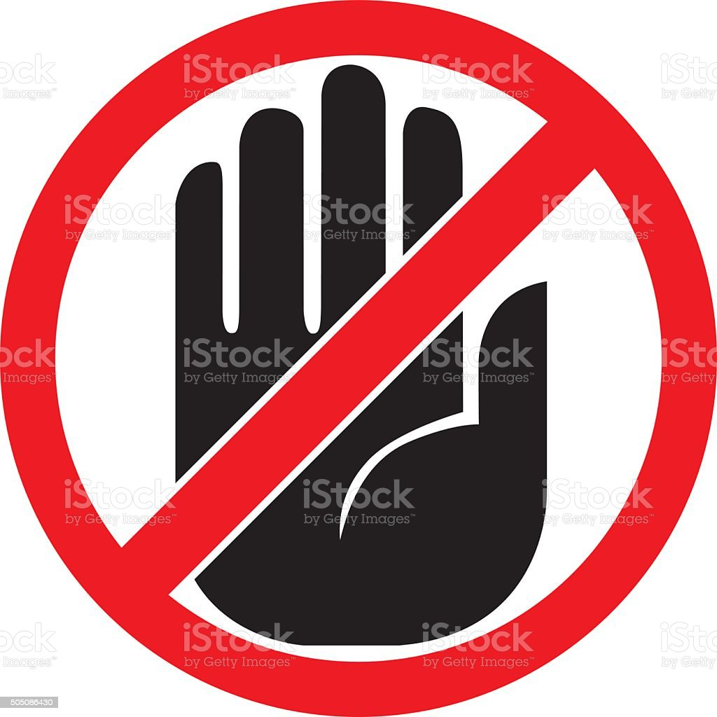 No Entry Sign vector art illustration