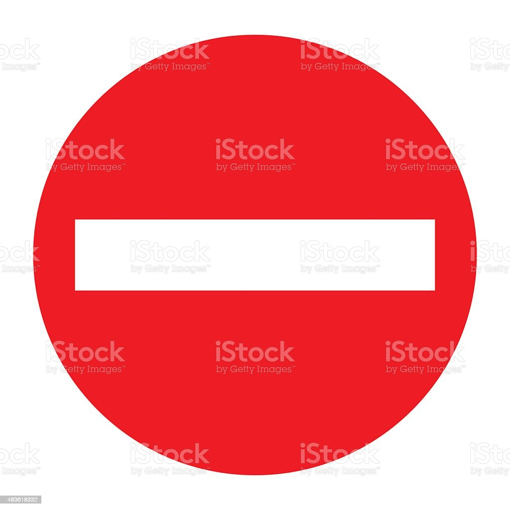No entry traffic sign. vector art illustration