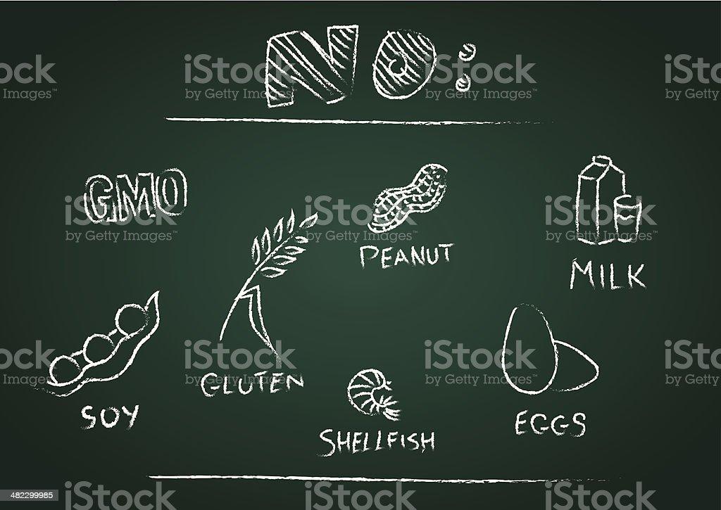 No! for unhealthy food vector art illustration
