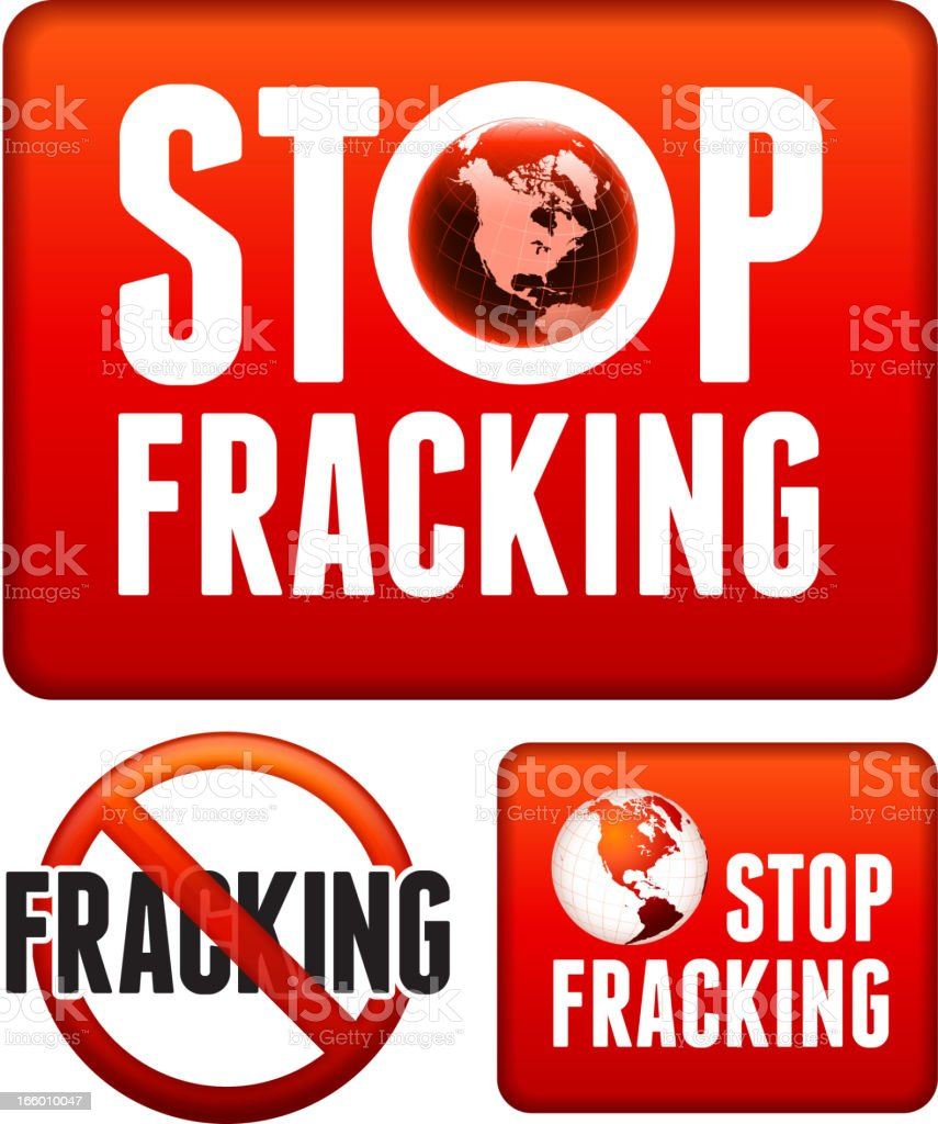 No Fracking Sign Set royalty-free stock vector art