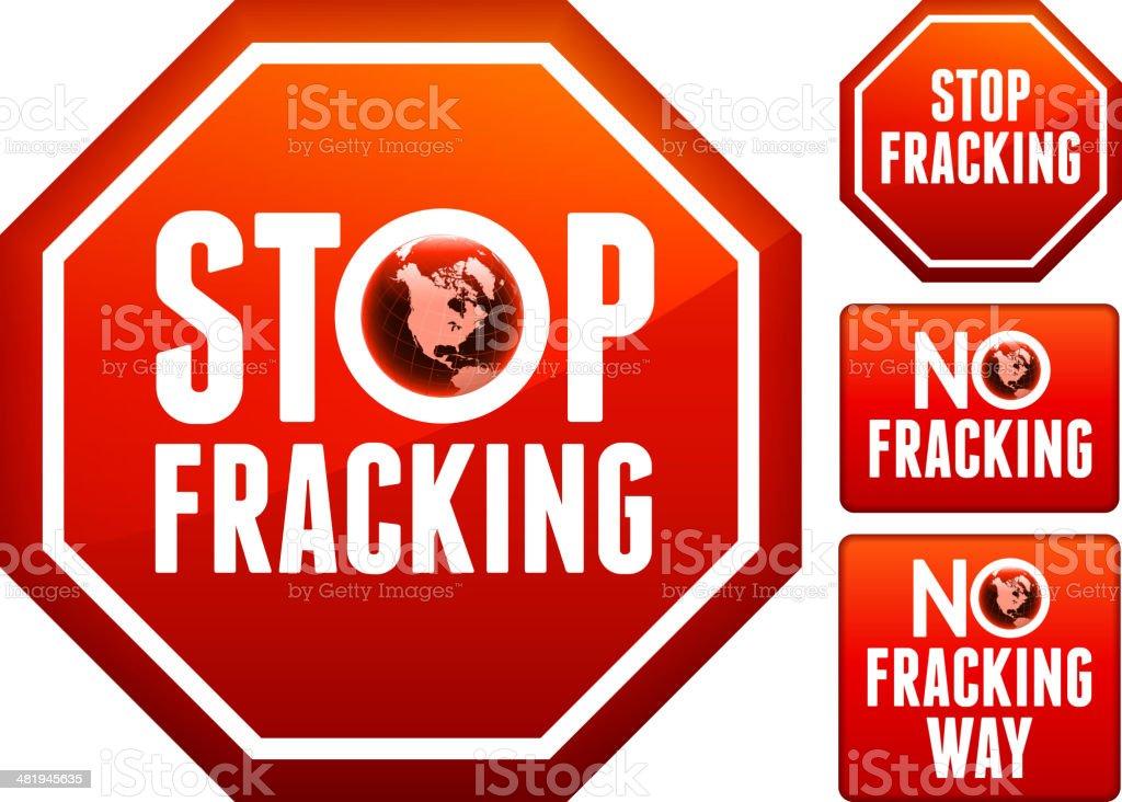 No Fracking Sign Set royalty-free stock vector art