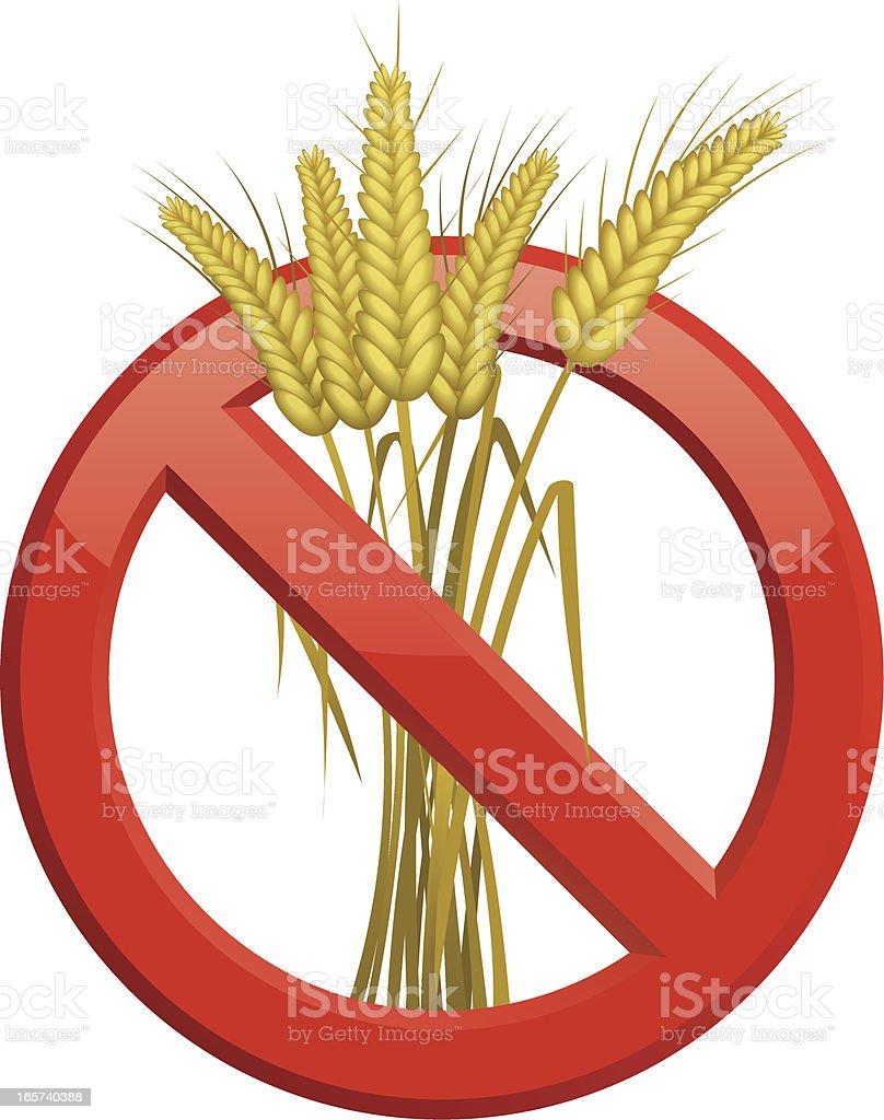 No Gluten Symbol royalty-free stock vector art