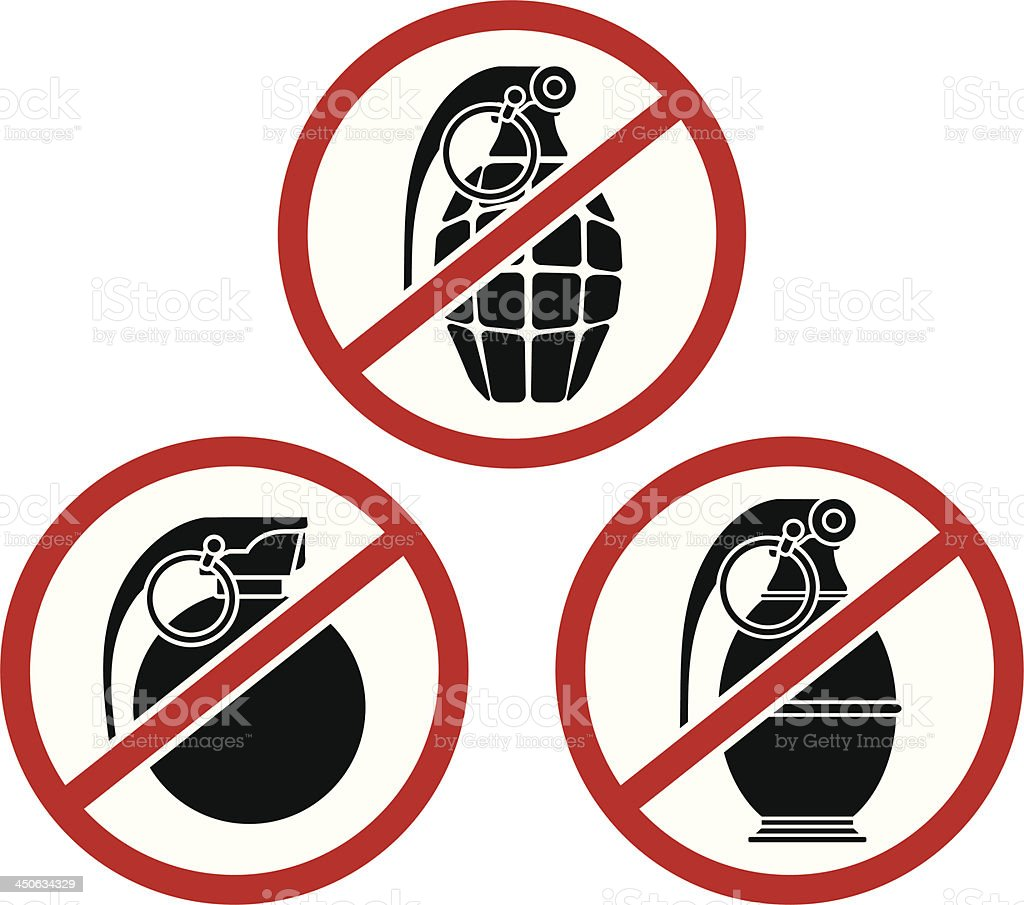 No grenades royalty-free stock vector art