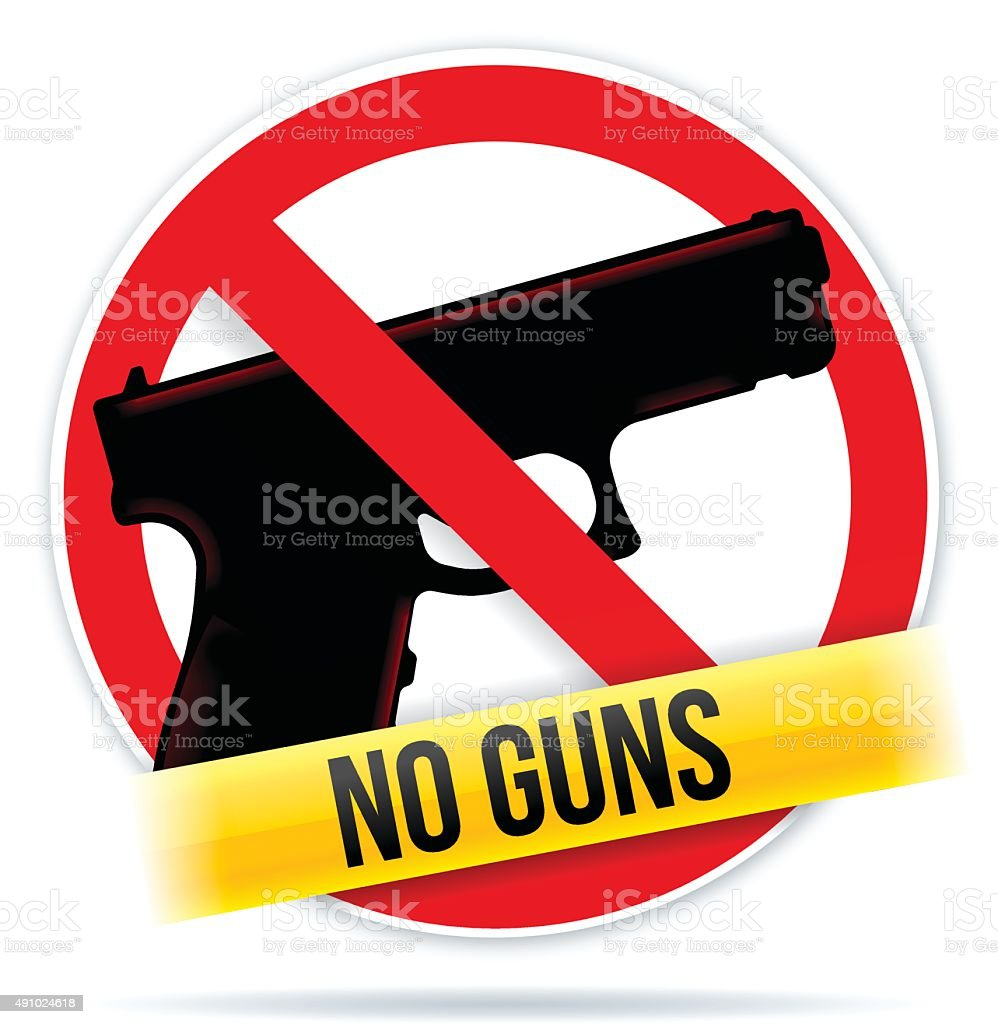 No Guns vector art illustration