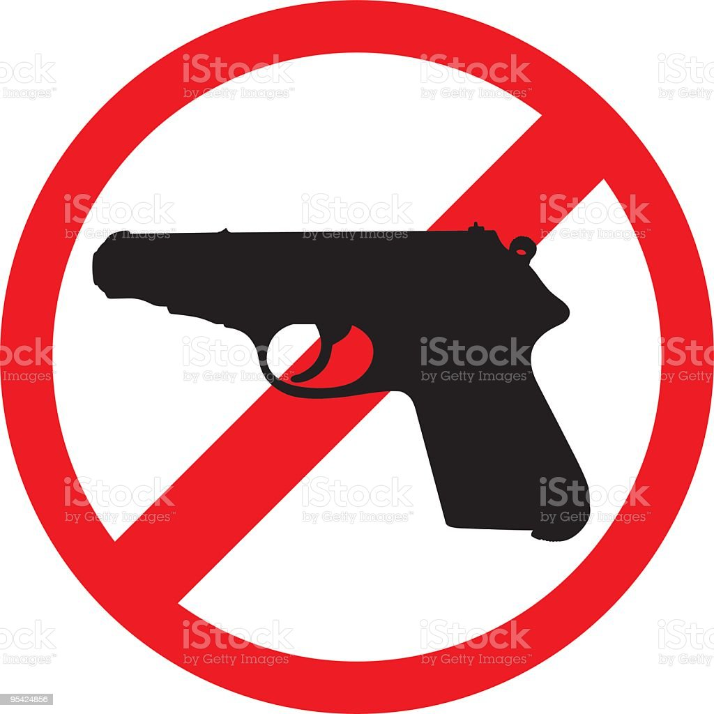 No guns royalty-free stock vector art