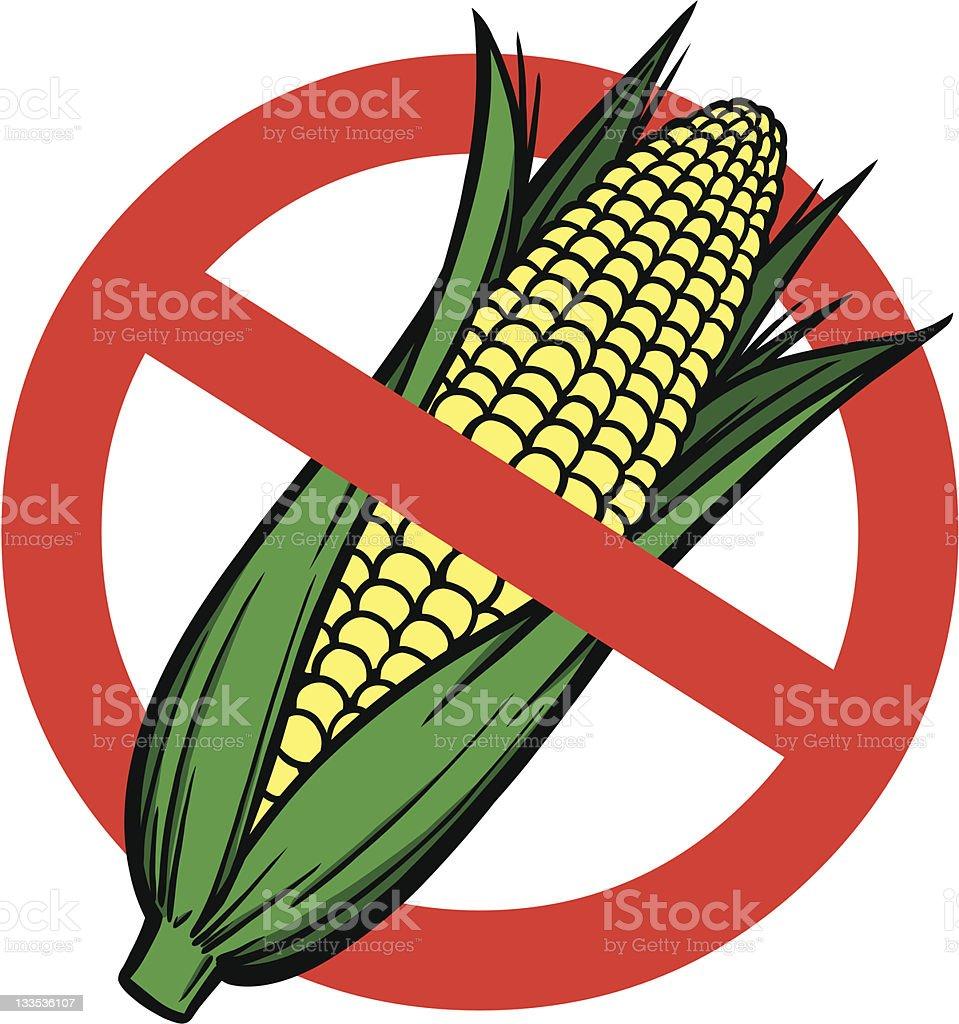 No High Fructose Corn Syrup royalty-free stock vector art