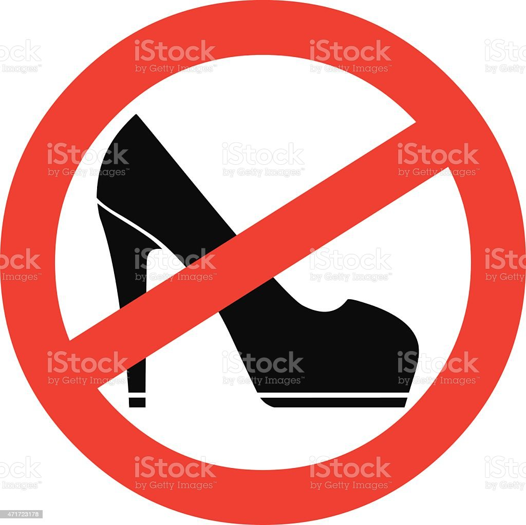 No High Heels vector art illustration