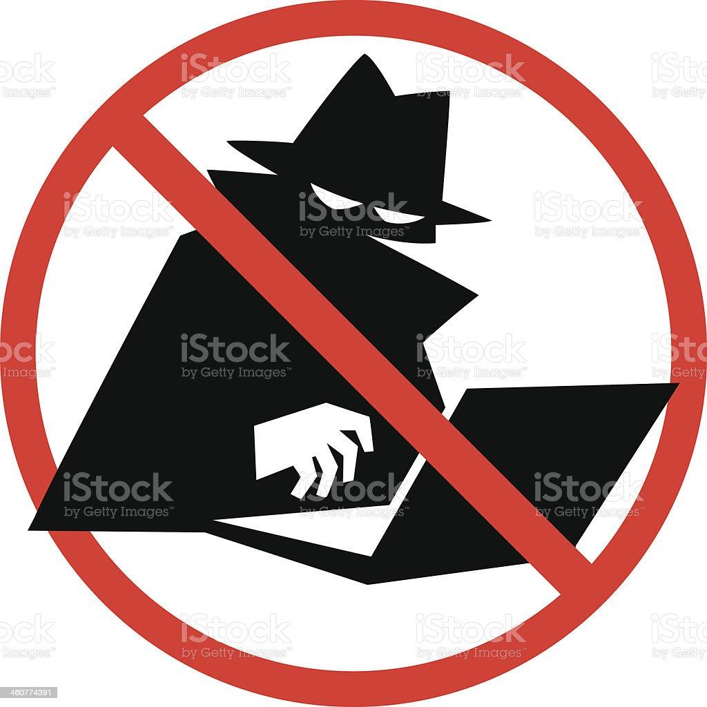 no identity theft vector art illustration