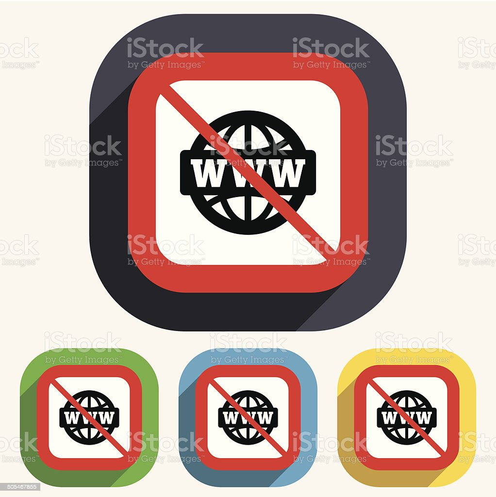 No internet. WWW sign icon. World wide web. royalty-free stock vector art