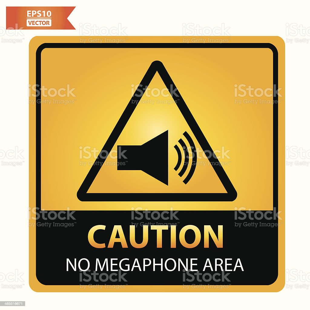 No megaphone area sign. royalty-free stock vector art