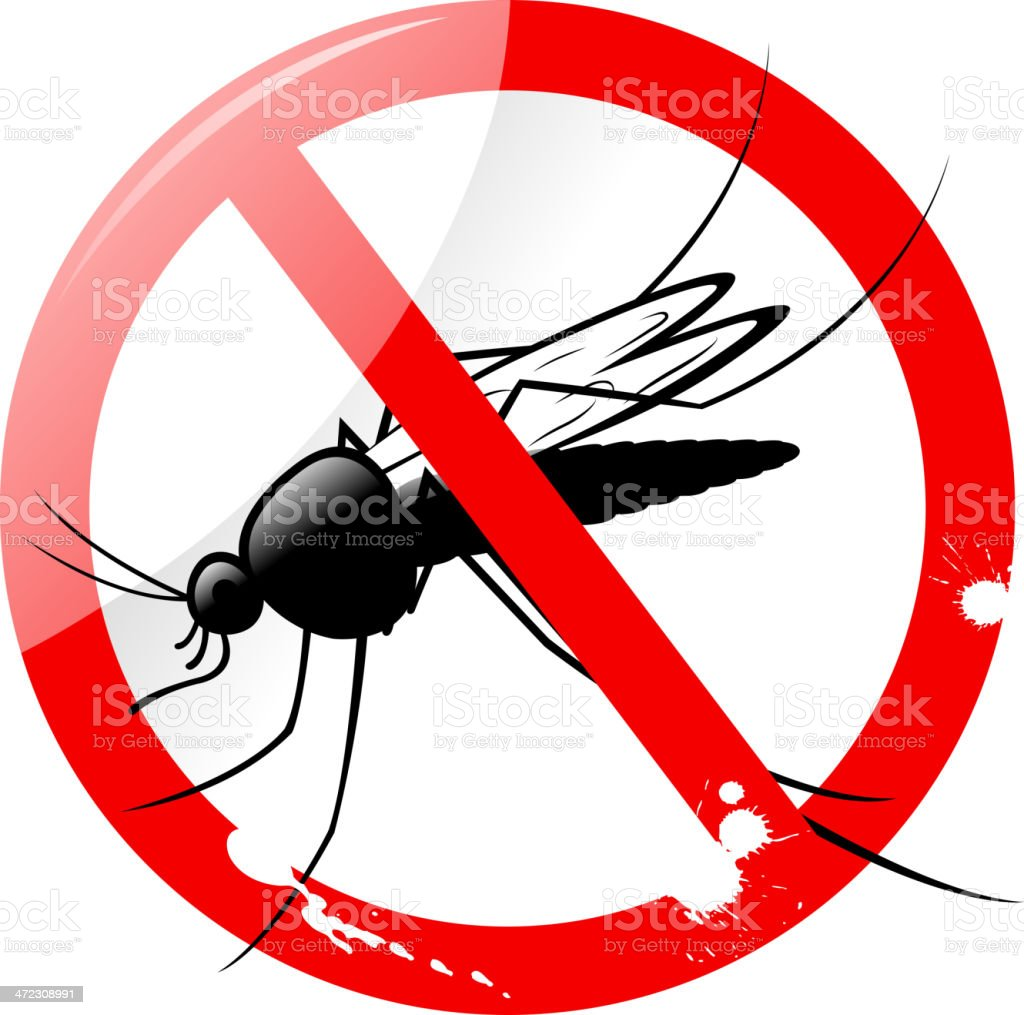 no mosquito sign royalty-free stock vector art
