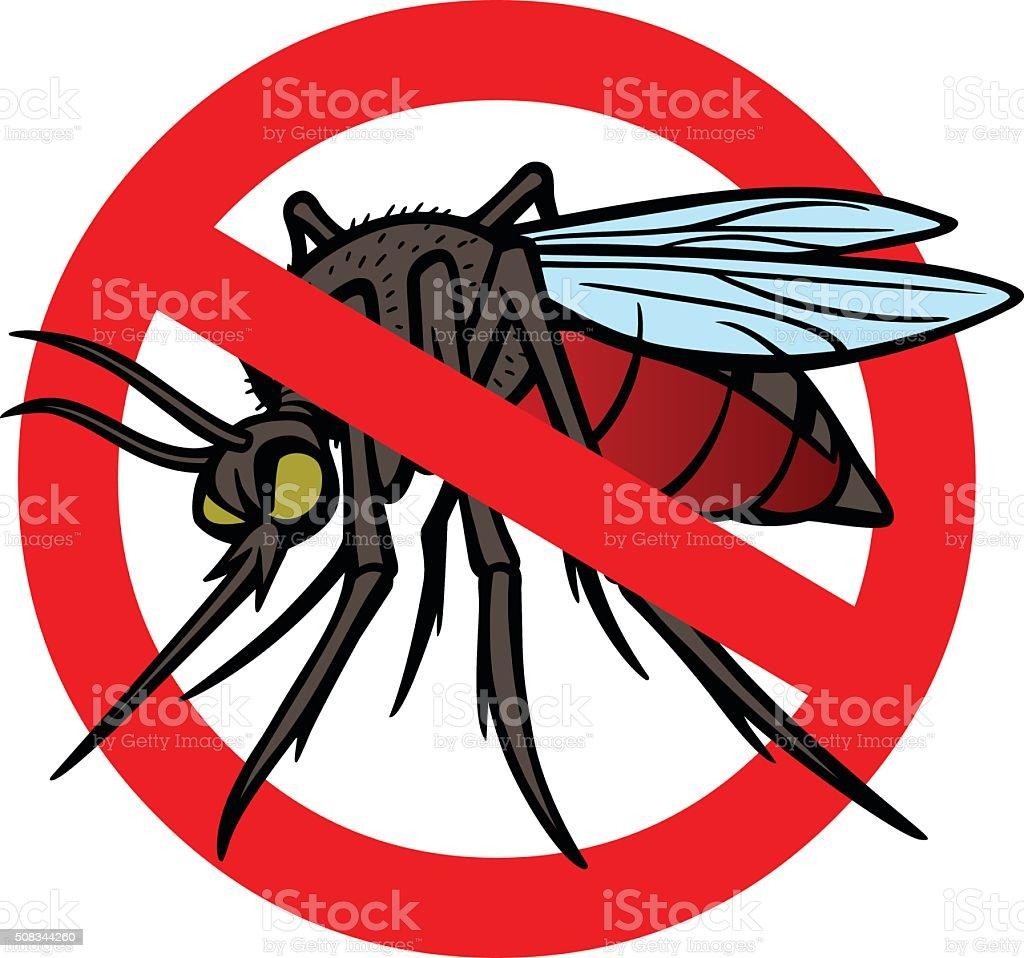 No Mosquitoes vector art illustration