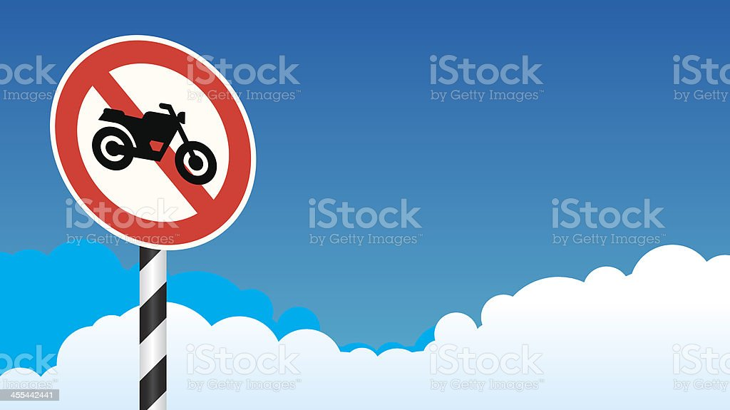No motorcycle sign royalty-free stock vector art