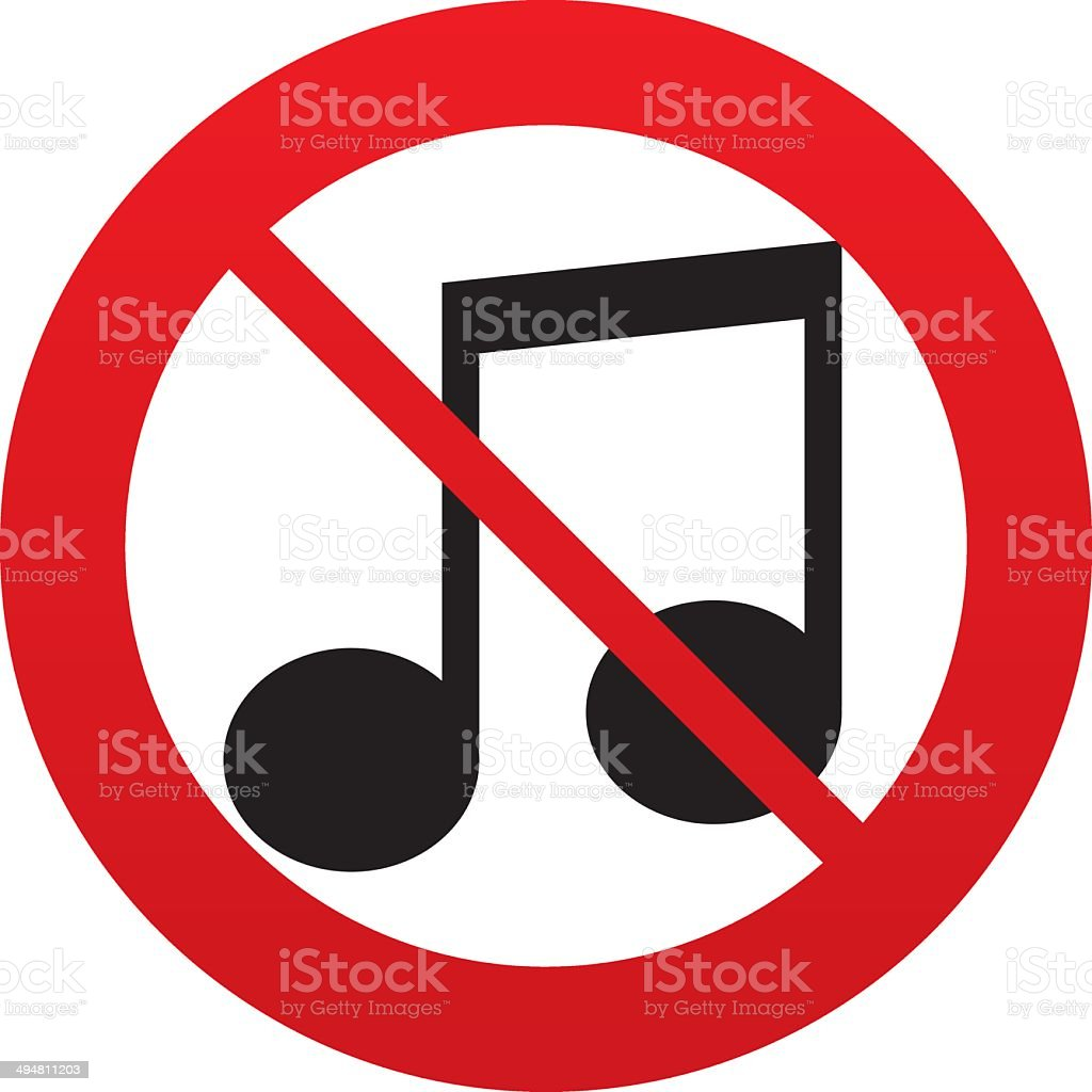 No Music Note Sign Icon Musical Symbol Stock Vector Art 494811203
