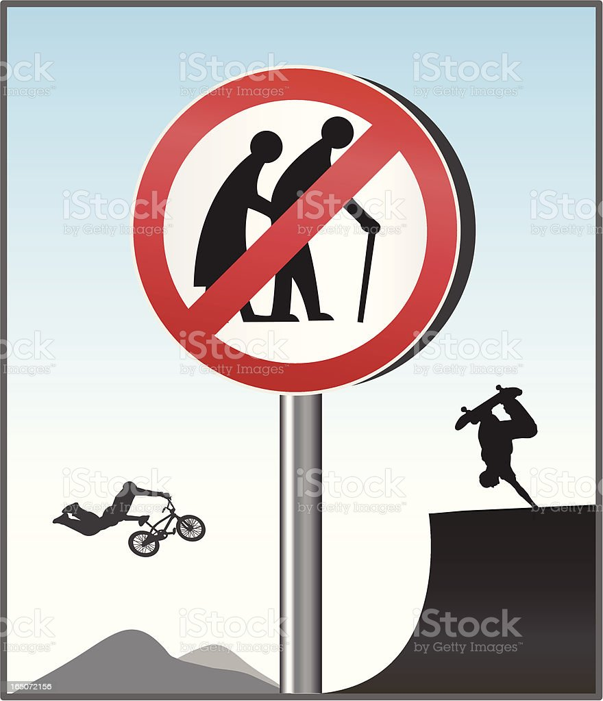 No Old People! royalty-free stock vector art