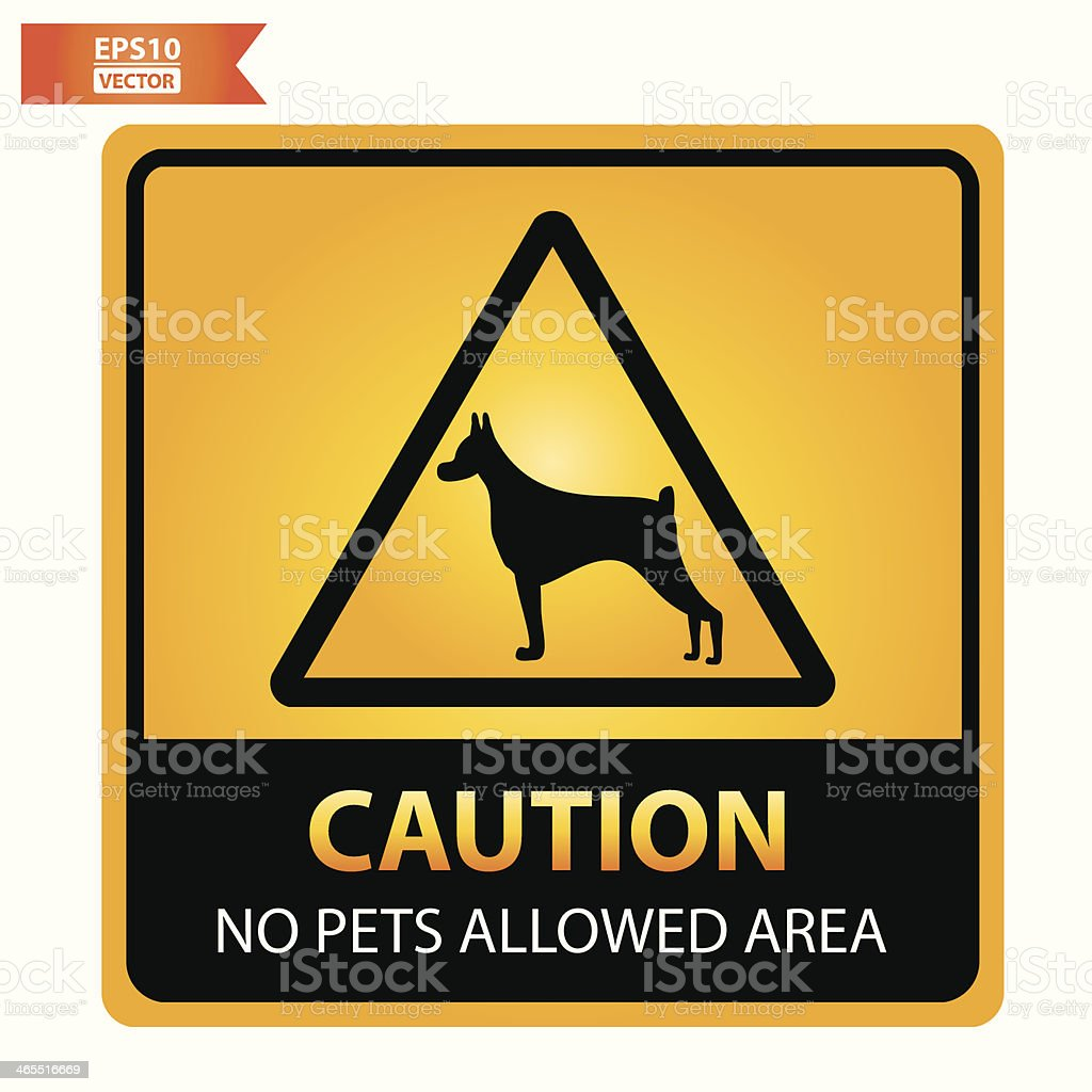 No pets allowed area sign. royalty-free stock vector art