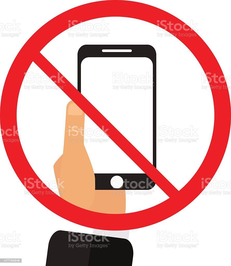 No phone sign vector illustration vector art illustration