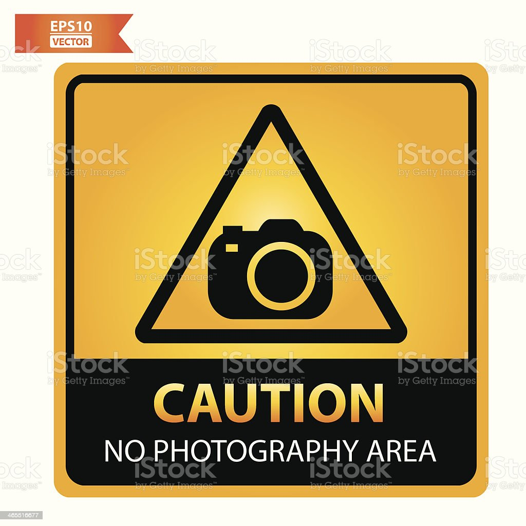 No photography area sign. royalty-free stock vector art
