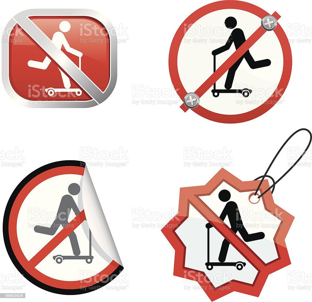 No push scooter royalty-free stock vector art