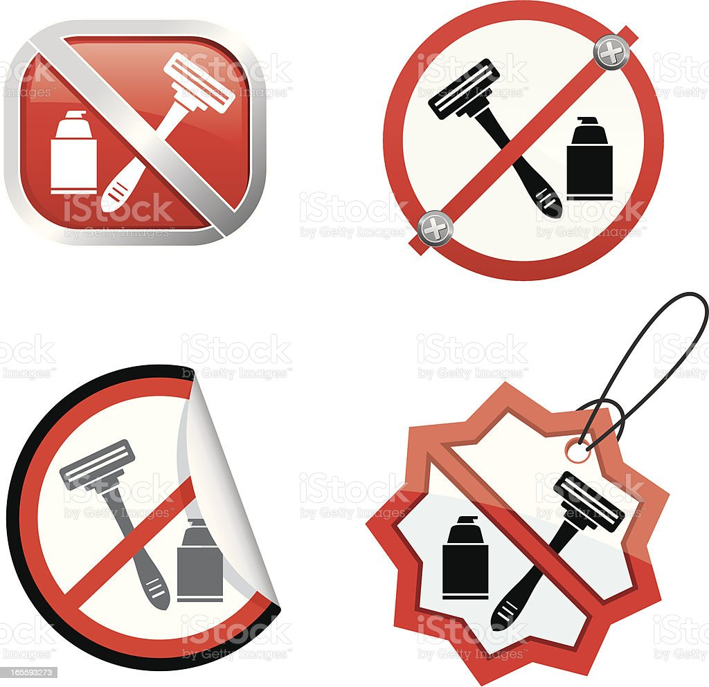 No shaving royalty-free stock vector art