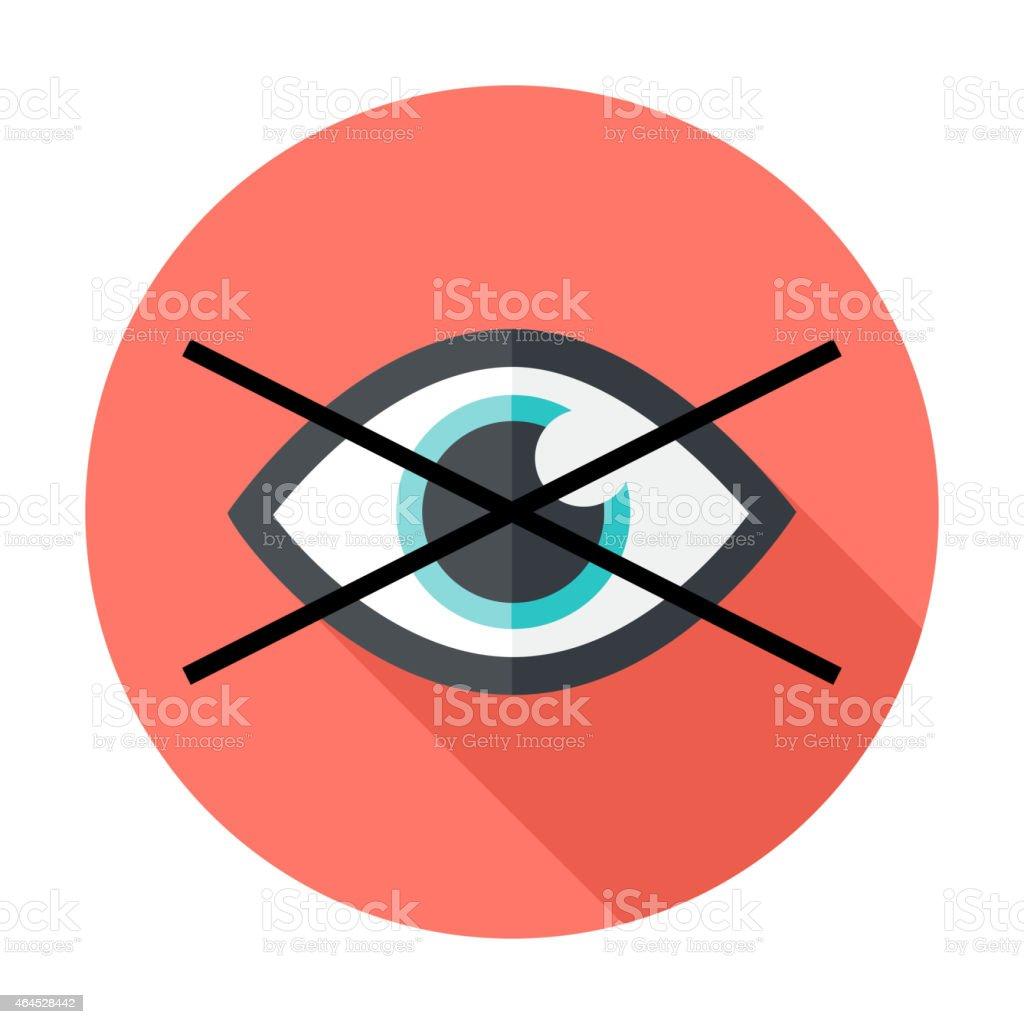 No show flat circle icon vector art illustration