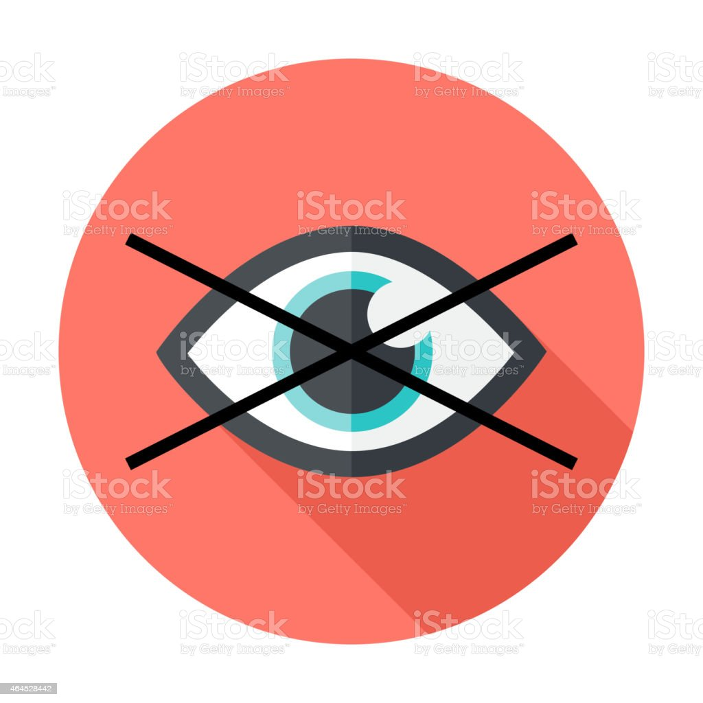 No show flat circle icon vector art illustration