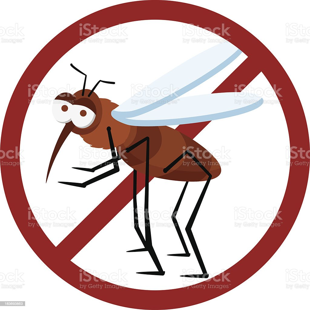 no sign mosquito royalty-free stock vector art