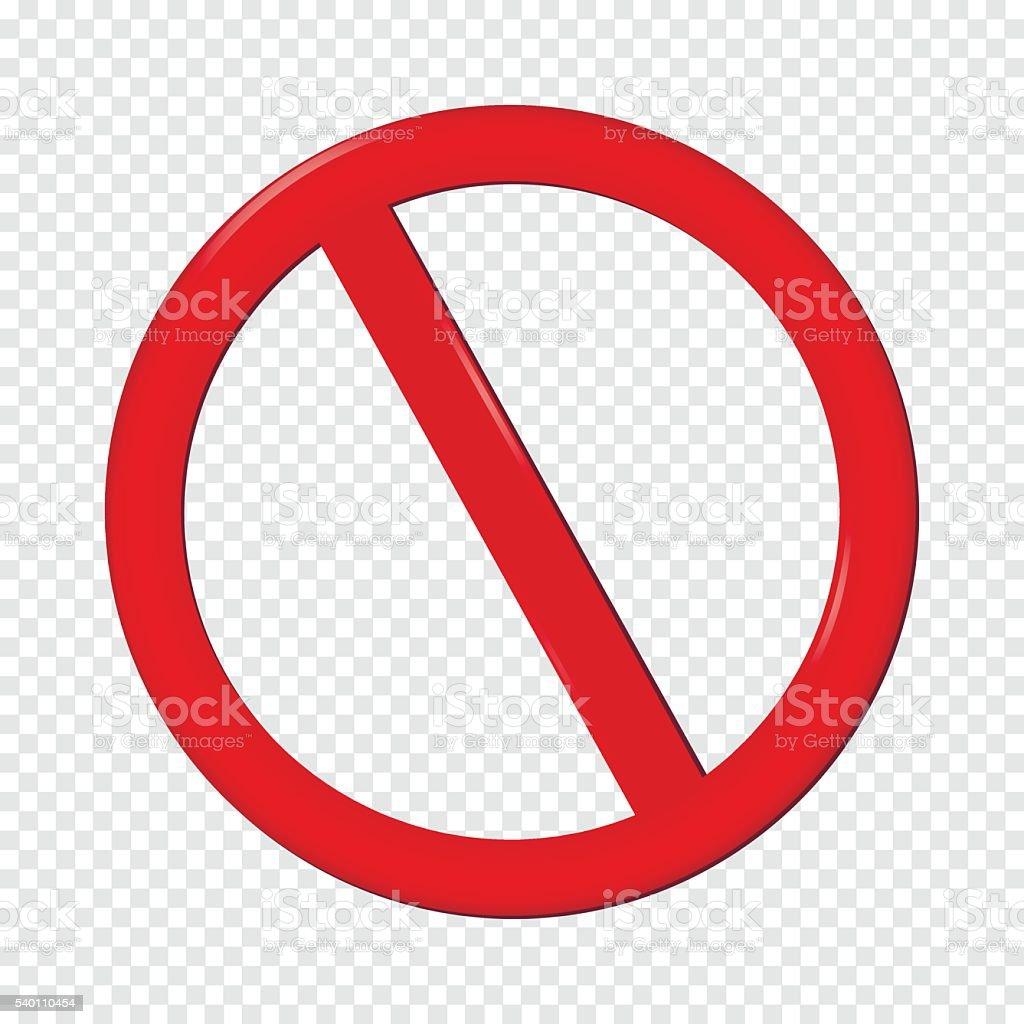 No Sign vector art illustration