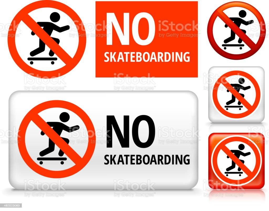 No Skateboarding royalty free vector art Buttons royalty-free stock vector art